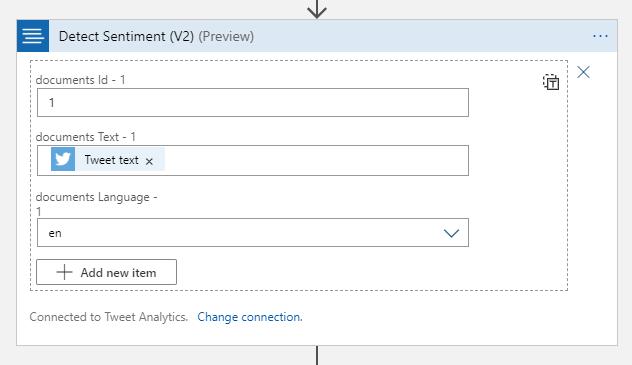 Configure Text Analytics action