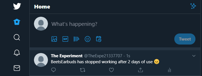 Post a tweet that should trigger our workflow